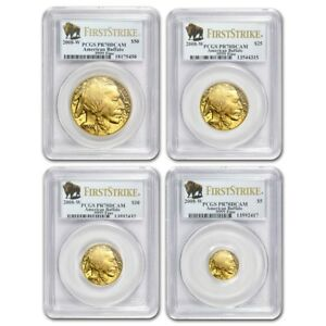 Click now to see the BUY IT NOW Price! SET OF 4 2008 W  $50 25 10 5  GOLD BUFFALO PROOFS PCGS PR70DCAM 1ST STRIKE COINS