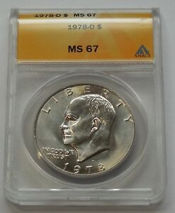 Click now to see the BUY IT NOW Price! 1978 D EISENHOWER IKE DOLLAR    ANACS MS 67
