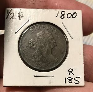 1800 DRAPED BUST HALF CENT  WOW