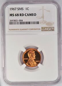 Click now to see the BUY IT NOW Price! 1967 SMS LINCOLN MEMORIAL CENT NGC MS 68 CAMEO / SP68CAM   TOP POP W/ NONE FINER