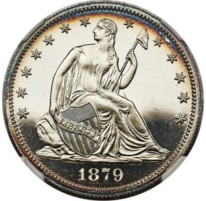Click now to see the BUY IT NOW Price! 1879 LIBERTY SEATED HALF 50C NGC PF67 PR67 STAR CAMEO POP  3/0  PG   $19 500