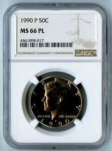 Click now to see the BUY IT NOW Price! 1990 P NGC MS66 PL KENNEDY HALF DOLLAR 50C  18/2