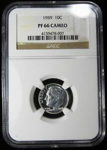 Click now to see the BUY IT NOW Price! 1959 ROOSEVELT DIME   NGC PF66 CAMEO