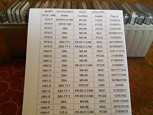 Click now to see the BUY IT NOW Price! S.B.A D0LLAR COINS 1979 TO 1999  P D S  AND PROOFS COMPLETE SET 20 COINS