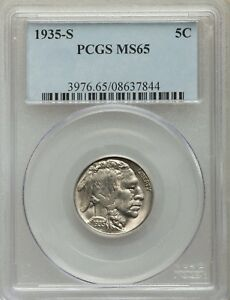 Click now to see the BUY IT NOW Price! 1935 S 5C BUFFALO NICKEL PCGS MS 65