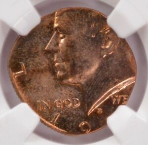 Click now to see the BUY IT NOW Price! NGC 50C KENNEDY HALF ON CENT PLANCHET MS65 RED/BROWN