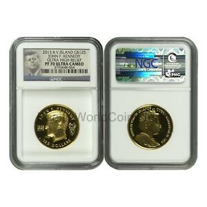 Click now to see the BUY IT NOW Price! BRITISH VIRGIN ISLANDS 2013 JOHN F. KENNEDY ULTRA HIGH RELIEF $125 GOLD NGC PF70