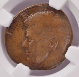 Click now to see the BUY IT NOW Price! NGC 50C KENNEDY HALF ON CENT PLANCHET MS62 BN