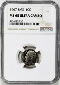 Click now to see the BUY IT NOW Price! 1967 SMS ROOSEVELT DIME 10C NGC MS68 UCAM ULTRA CAMEO PG   $7 250