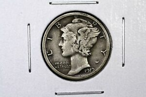 Click now to see the BUY IT NOW Price! 1919 S MERCURY DIME FINE