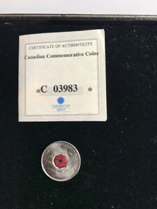 AMERICAN MINT CANADIAN COMMEMORATIVE COIN POPPY QUARTER COIN  A