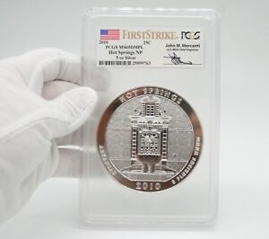 Click now to see the BUY IT NOW Price! 2010 5OZ SILVER ATB HOT SPRINGS NP PCGS MS69 DMPL FIRST STRIKE MERCANTI