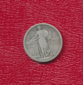 1917 S STANDING LIBERTY SILVER QUARTER TYPE 1 NICE CIRCULATED QUARTER  FREE SHIP