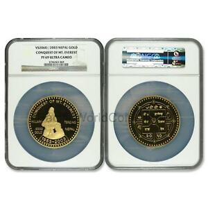 Click now to see the BUY IT NOW Price! NEPAL 2003 CONQUEST OF MT. EVEREST 5 OZ GOLD NGC PF69 ULTRA CAMEO SKU6679