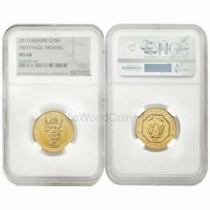 Click now to see the BUY IT NOW Price! UKRAINE 2013 ARCHANGEL MICHAEL 1/2 OZ 10 HRYVEN GOLD NGC MS68 SKU4563