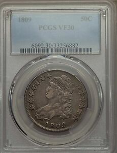Click now to see the BUY IT NOW Price! 1809 BUST HALF DOLLAR PCGS VF 30