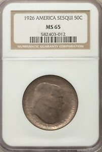 Click now to see the BUY IT NOW Price! 1926 50C SESQUICENTENNIAL SILVER COMMEMORATIVE MS65 NGC