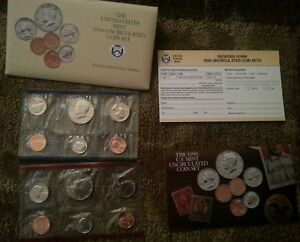1990   UNCIRCULATED US MINT SET P&D PHILA & DENVER 10 COINS ORIGINAL PACKAGING
