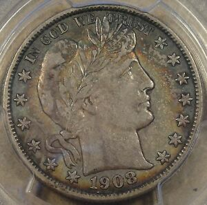 1908 O BARBER HALF DOLLAR PCGS XF 45 CRUSTY ORIGINAL COIN