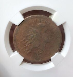 1793 LARGE CENT   WREATH VINE & BARS   NGC VF DETAILS  VERY NICE