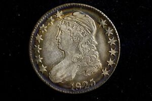 Click now to see the BUY IT NOW Price! 1825 CAPPED BUST HALF DOLLAR CHOICE XF WITH GREAT COLOR