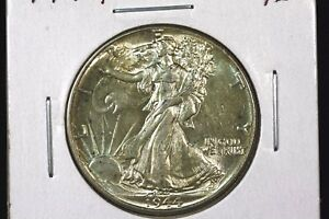 Click now to see the BUY IT NOW Price! 1944 WALKING LIBERTY HALF SUPER SLIDER BU