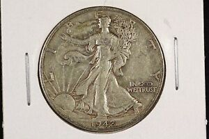 Click now to see the BUY IT NOW Price! 1942 S 50C WALKING LIBERTY HALF DOLLAR XF