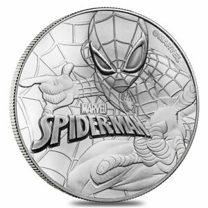 Click now to see the BUY IT NOW Price! 2017 1 OZ TUVALU MARVEL SERIES   SPIDERMAN .9999 SILVER COIN BU IN MINT CAPSULE