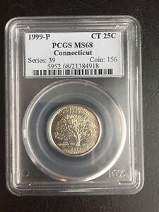 Click now to see the BUY IT NOW Price! 1999 P CONNECTICUT STATE QUARTER PCGS MS68 BLUE HOLDER