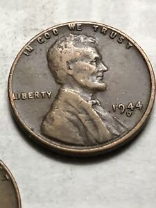 1944 D LINCOLN WHEAT PENNY CENT  BETTER GRADE   LOT P17