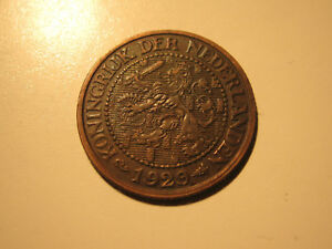 NETHERLANDS 1929  2 1/2  CENT COIN EXCELLENT CONDITION