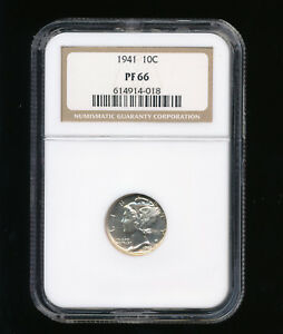 1941 P MERCURY SILVER DIME 10C NGC PROOF PF 66  LOW MINTAGE