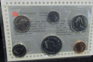 CANADIAN PROOF SETS 1987 COMPLETE WITH ENVELOP AND POA CAR