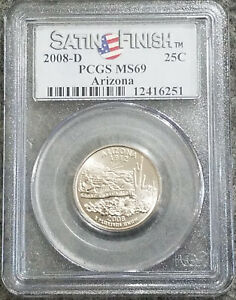 Click now to see the BUY IT NOW Price! 2008 D ARIZONA QUARTER PCGS MS69 SMS SATINFINISH