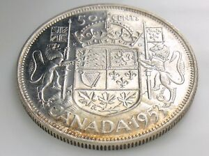 Click now to see the BUY IT NOW Price! 1953 NSF LD CANADA 50 FIFTY CENT HALF DOLLAR ELIZABETH II CIRCULATED COIN I252