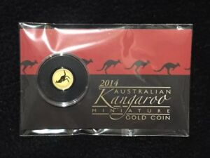 2014 PERTH MINT AUSTRALIA .5 GRAM KANGAROO MINI ROO GOLD COIN