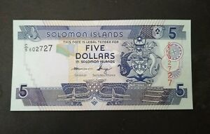 SOLOMON ISLANDS 5 DOLLARS UNC
