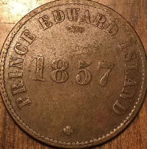 1857 PEI SELF GOVERNMENT AND FREE TRADE HALFPENNY TOKEN