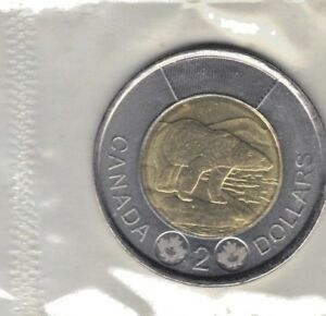 CANADA 2016 PROOF LIKE TWO DOLLAR COIN STILL SEALED IN MINT PLASTIC