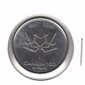 CANADA 1867 2017 FIFTY CENT COIN FROM MINT ROLL