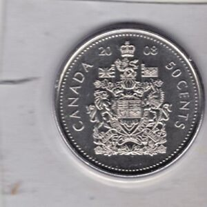 CANADA 2008 PROOF LIKE 50 CENT COIN FROM MINT SET  STILL SEALED IN MINT PLASTIC