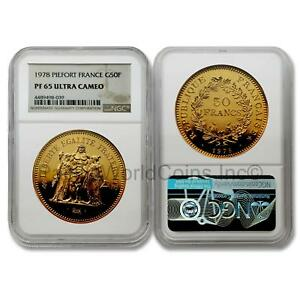 Click now to see the BUY IT NOW Price! FRANCE 1978 PIEFORT KM P620 50 FRANCS GOLD COIN NGC PF65 UC SKU7099