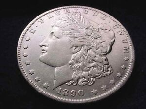 1890 O MORGAN DOLLAR GREAT DOLLAR     1614