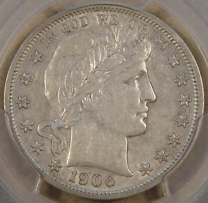 1906 O BARBER HALF DOLLAR PCGS XF45 LUSTER REMAINS WOULD SIT NICELY IN AN AU SET