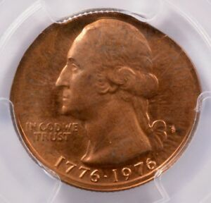 Click now to see the BUY IT NOW Price! PCGS 25C 1976 S PROOF BICENTENNIAL QUARTER ON CENT DOUBLE DENOMINATION PF66 RED