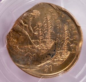Click now to see the BUY IT NOW Price! PCGS $1 2009 AGRICULTURE DOLLAR QUADRUPLE STRUCK 35  OFF CENTER MS64