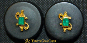 Click now to see the BUY IT NOW Price! ATOCHA EMERALD STUDS 1622 FISHER PIRATE GOLD COINS SHIPWRECK TREASURE EARRINGS
