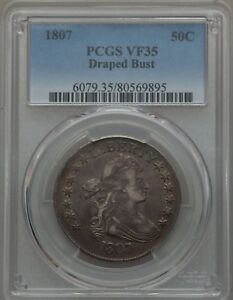 Click now to see the BUY IT NOW Price! 1807 DRAPED BUST  BUST HALF PCGS VF 35