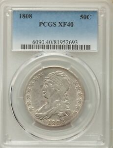 Click now to see the BUY IT NOW Price! 1808 CAPPED BUST HALF PCGS XF 40