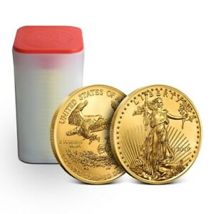 Click now to see the BUY IT NOW Price! TUBE OF 20   2019 1 OZ GOLD AMERICAN EAGLE COIN $50 GEM BU   MINT FRESH COINS